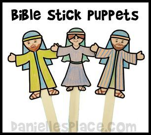 Free Stick Puppet Printable Pattern for Sunday School from.