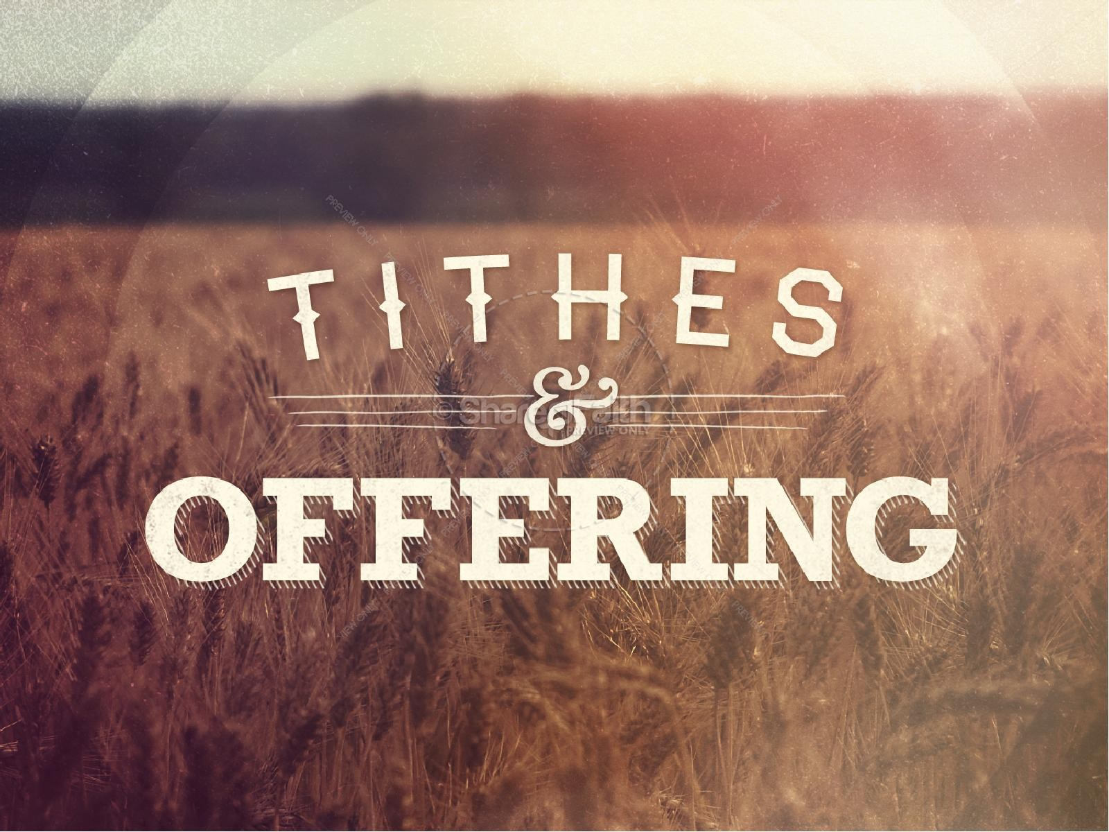 Tithes and Offering Sermon PowerPoint for Church.