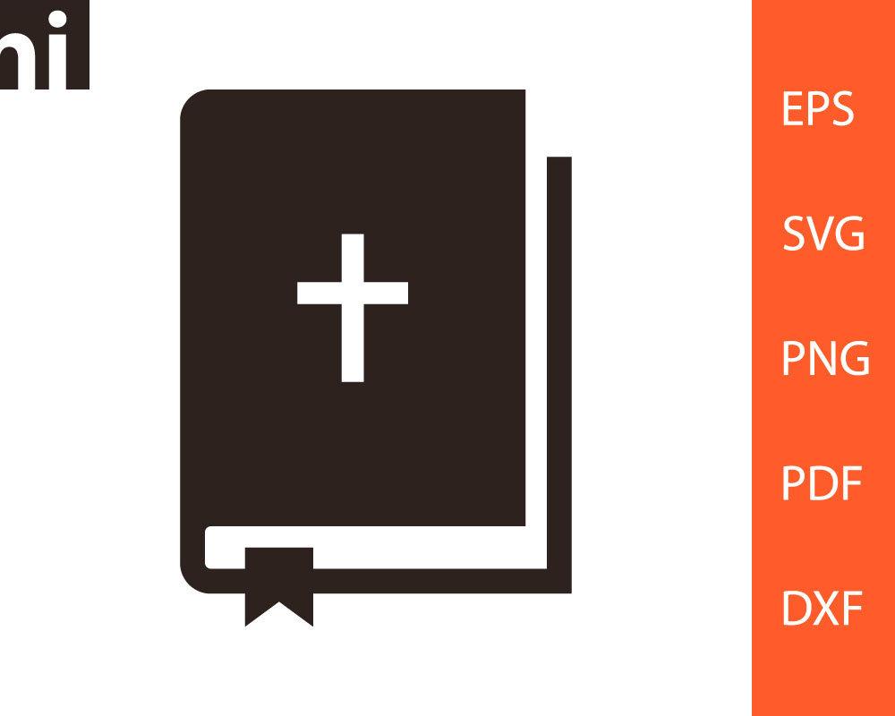 Bible svg, Bible Vector, Bible Silhouette, Bible Clipart, Bible Logo, Bible  Cut File, SVG, PNG, DXF, Clipart, Vector, Silhouette, pdf, eps.