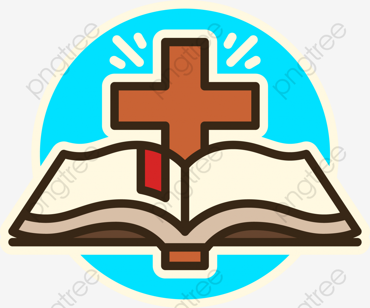 Cross And Bible Designed, Book, ? PNG and Vector with Transparent.