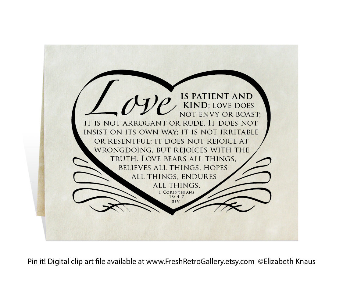 Love Is Patient Love Is Kind Clipart.