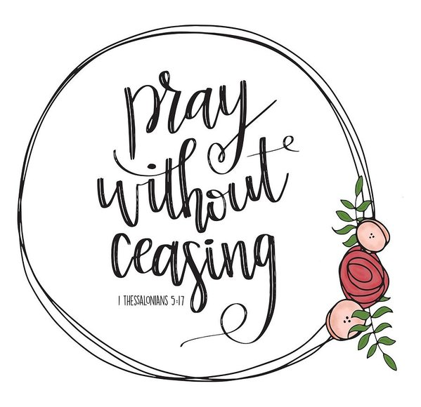 Pray Without Ceasing Wreath Art Print.