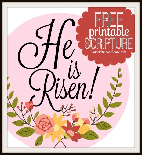 Free Easter Scripture Printable He is Risen.