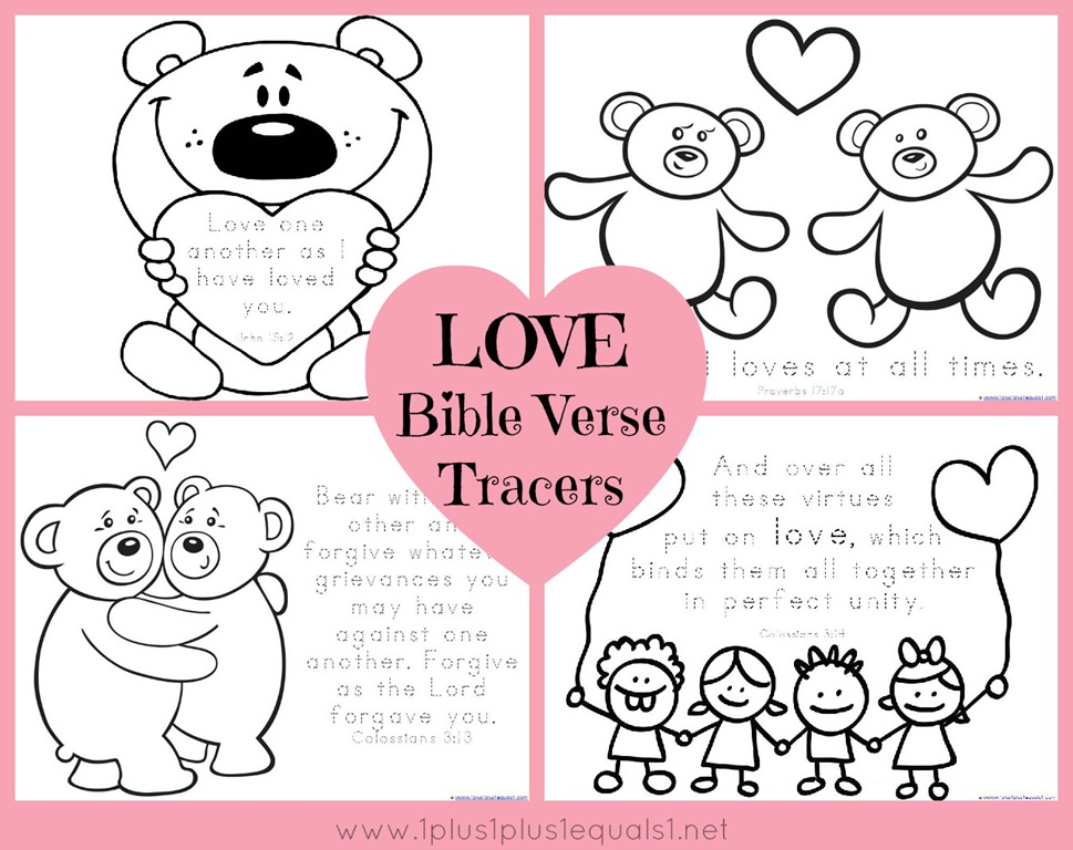 Valentine\'s Day Bible Verse Coloring Pages.