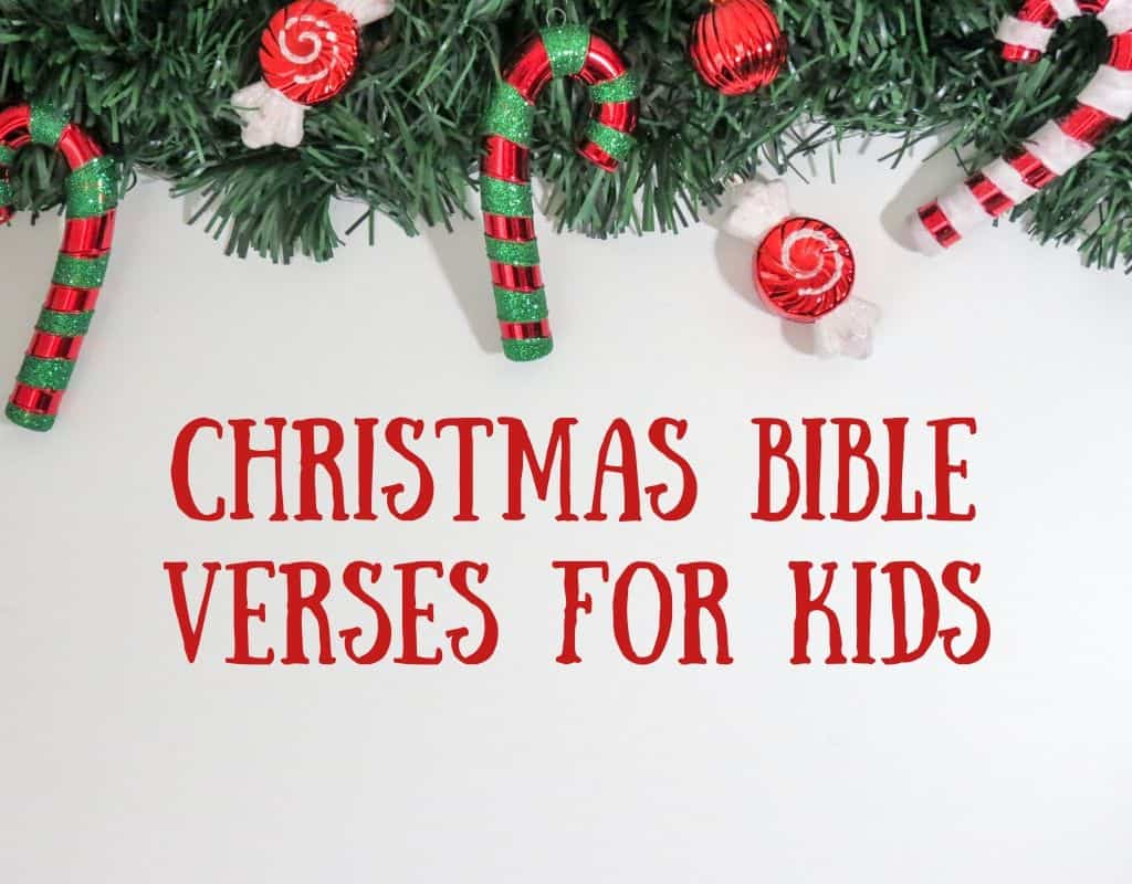 Christmas Bible Verses for Kids.