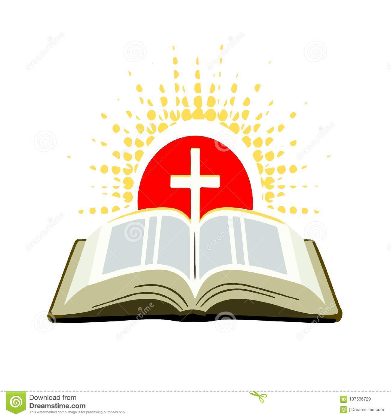 Open bible with cross clipart 4 » Clipart Portal.