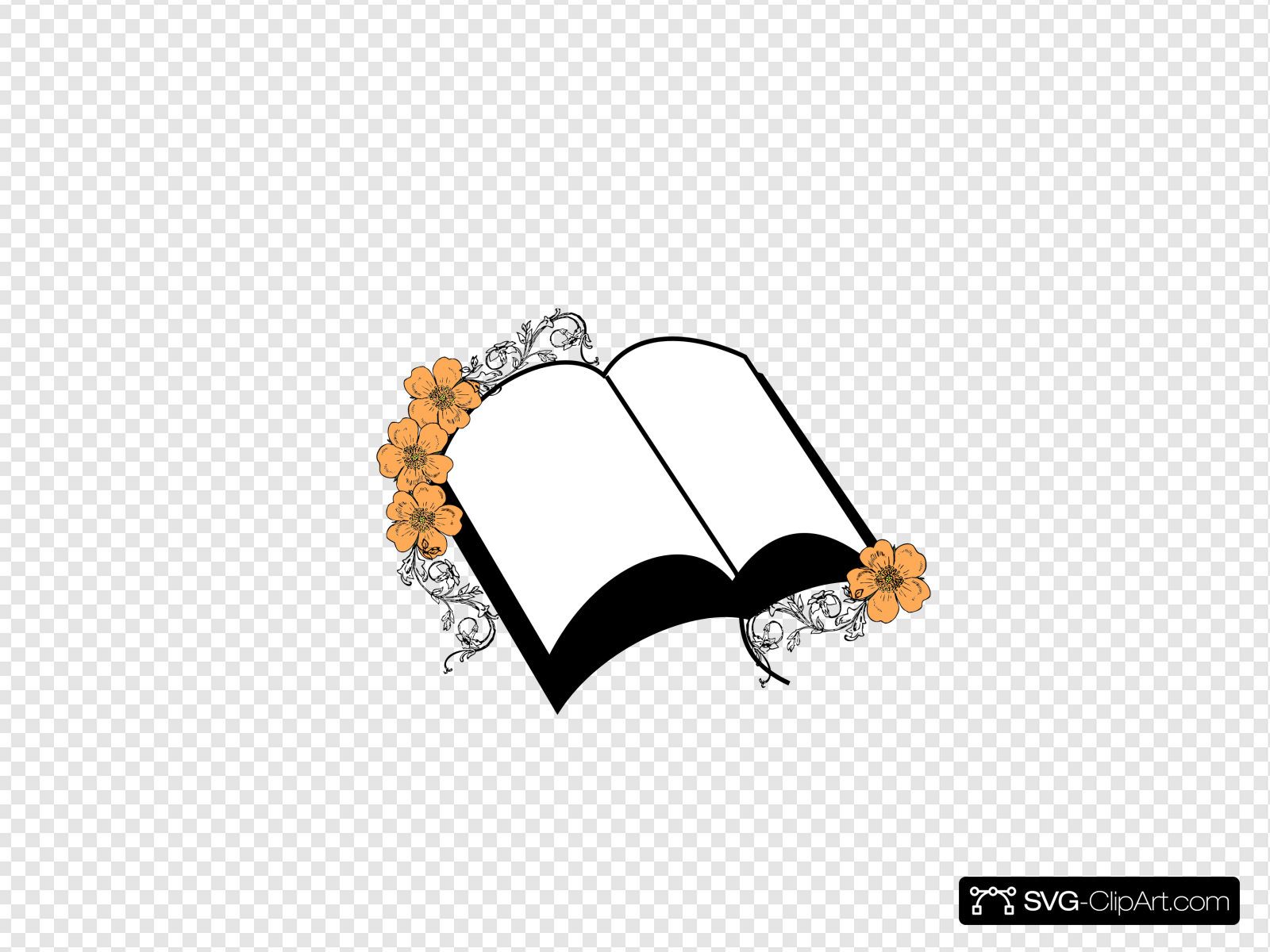 Wedding Flower Bible Clip art, Icon and SVG.