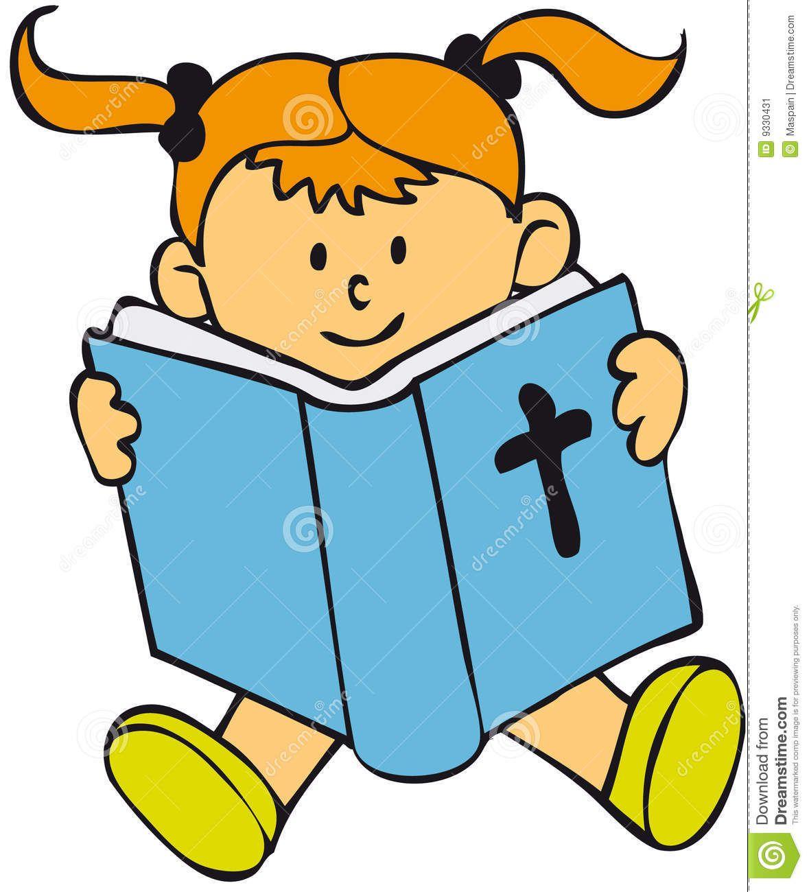 Reading Bible Clip Art.
