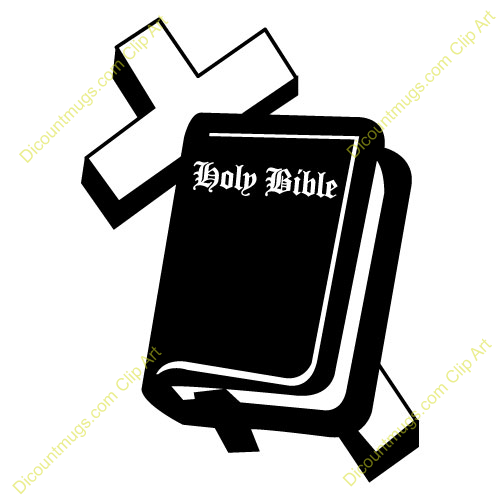 Rose Cross And Bible Clipart.