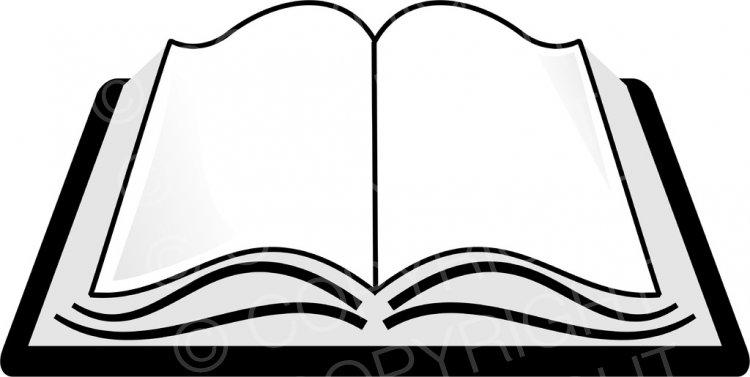 Open Holy Bible Clipart.