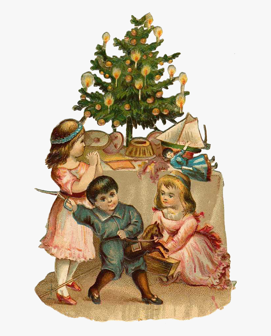 Transparent Dickens Christmas Clipart.