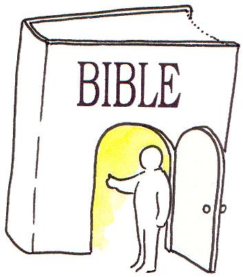 Adult Couple Bible Study Clipart.