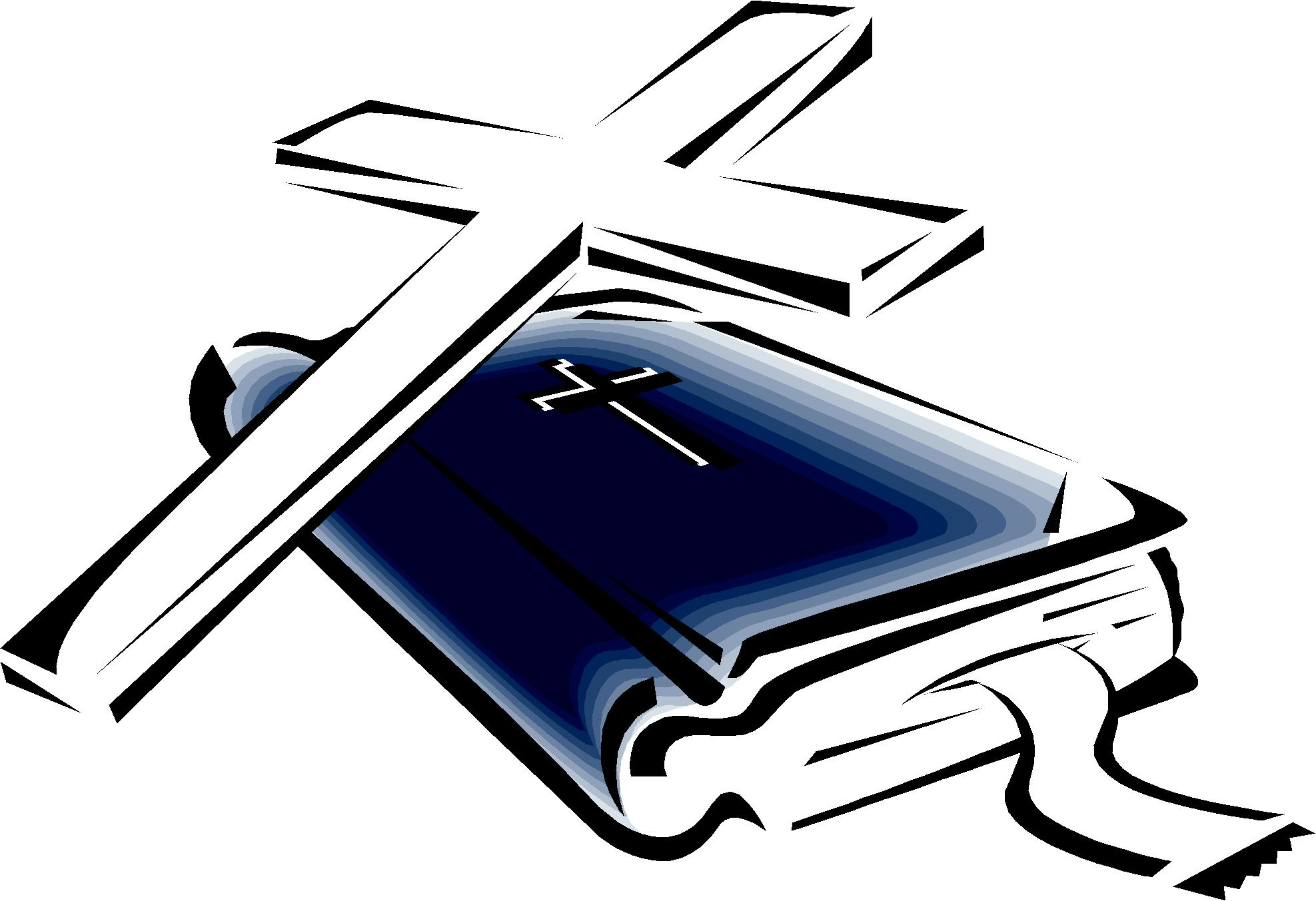 Holy Bible And Cross Clipart.