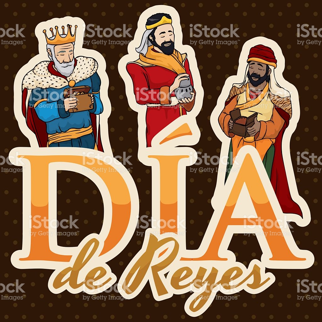 Biblical Magi For Epiphany Or In Spanish Dia De Reyes stock vector.