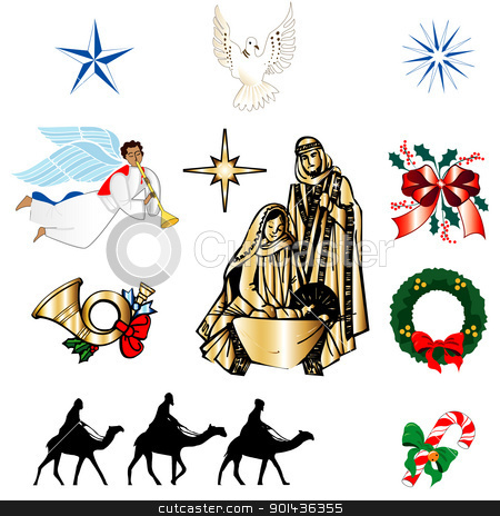 Biblical christmas clipart.