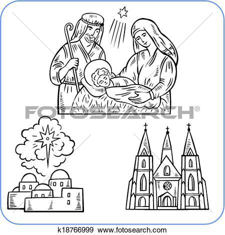 Clip Art of Biblical scene.