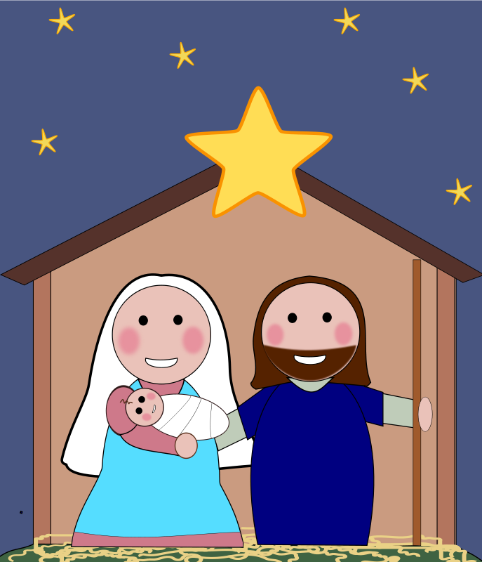 religious christmas cards clipart #20
