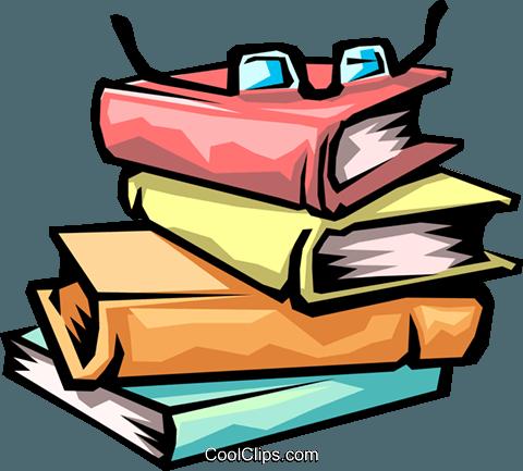 livros da biblioteca livre de direitos Vetores Clip Art ilustração.
