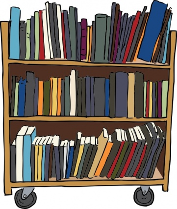 Library Book Cart clip art Clipart Graphic.