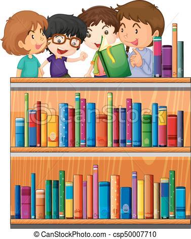lecture, livres, enfants, bibliothèque.