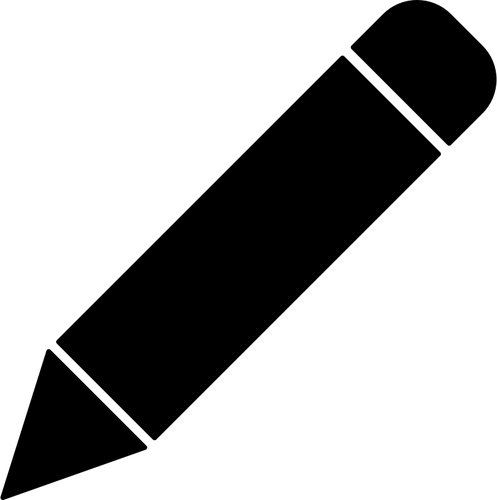Vector clip art of black BIC pen.