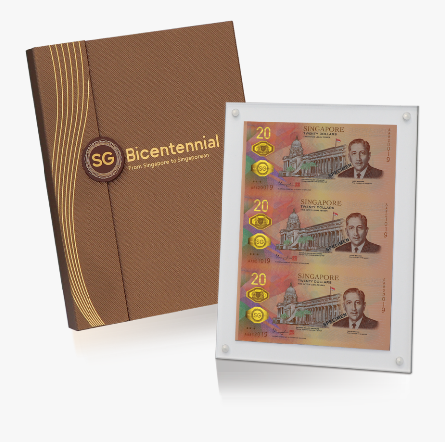 The Singapore Bicentennial $20 Commemorative Note.