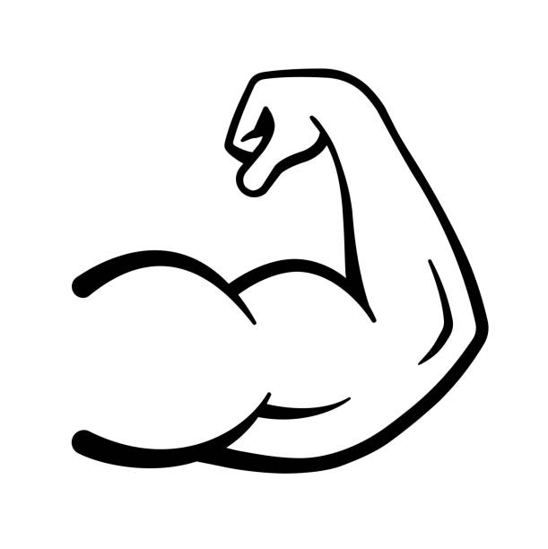 Bicep clipart vector.