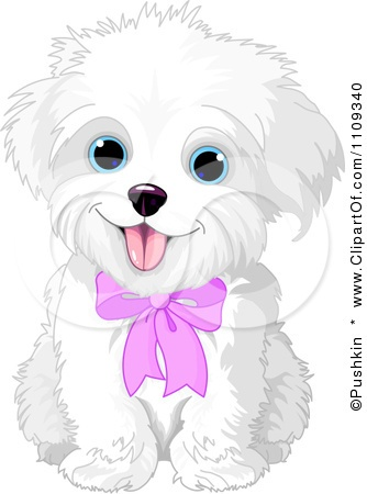colored cartoon cute puppy photo.