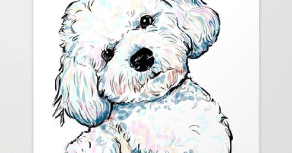 BICHON FRISE Original Watercolor Painting by Artist DJ Rogers.