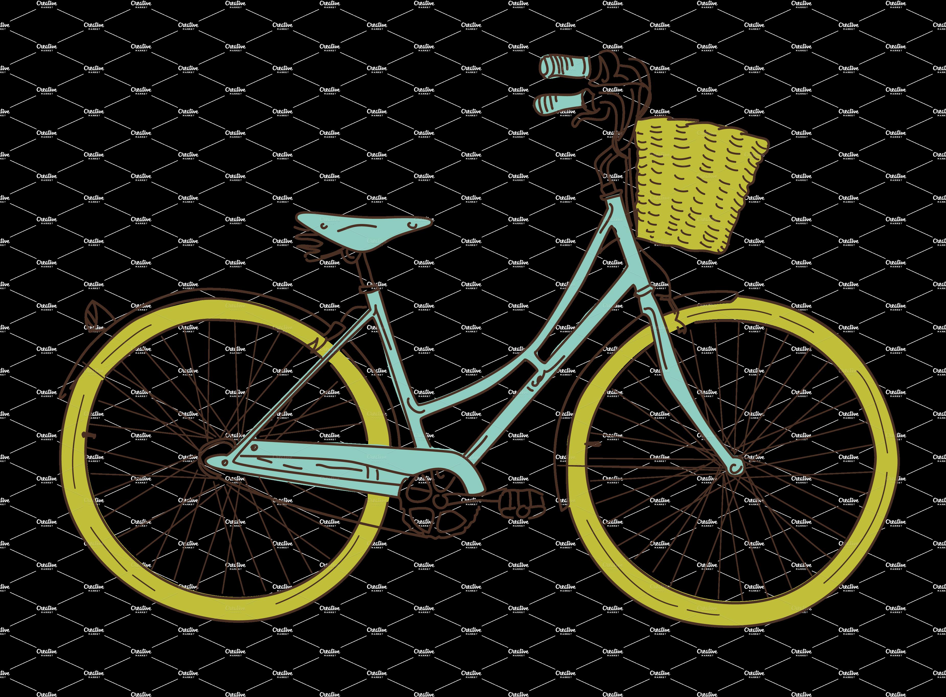 retro bike clip art.