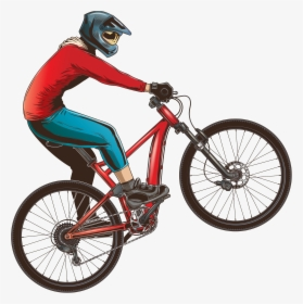 Transparent Biking Clipart.