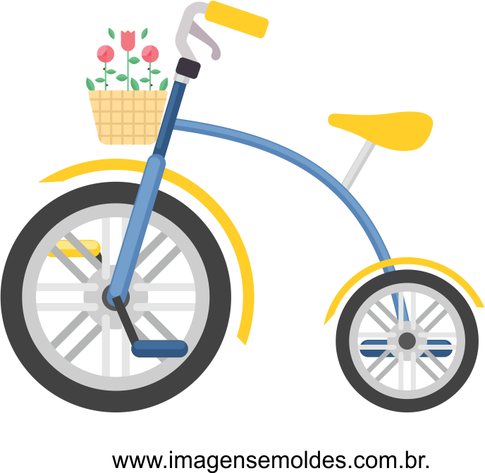 imagem bicicleta com flores vetorizada 01.
