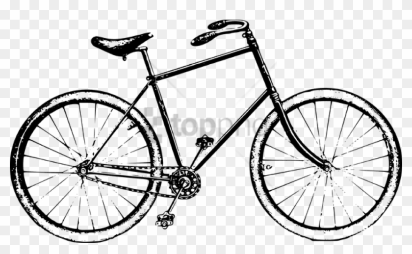 Black And White Bike Png Image With Transparent Background.