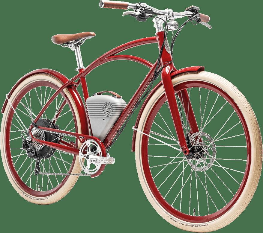 Vintage Electric Bike transparent PNG.