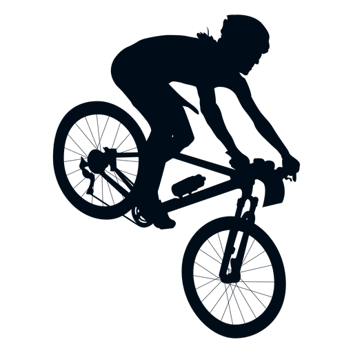 Silueta de hombre en bicicleta.