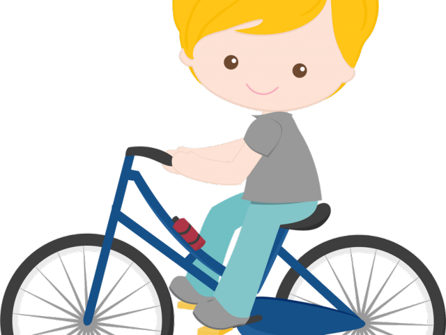 Child Clipart Bicycle.