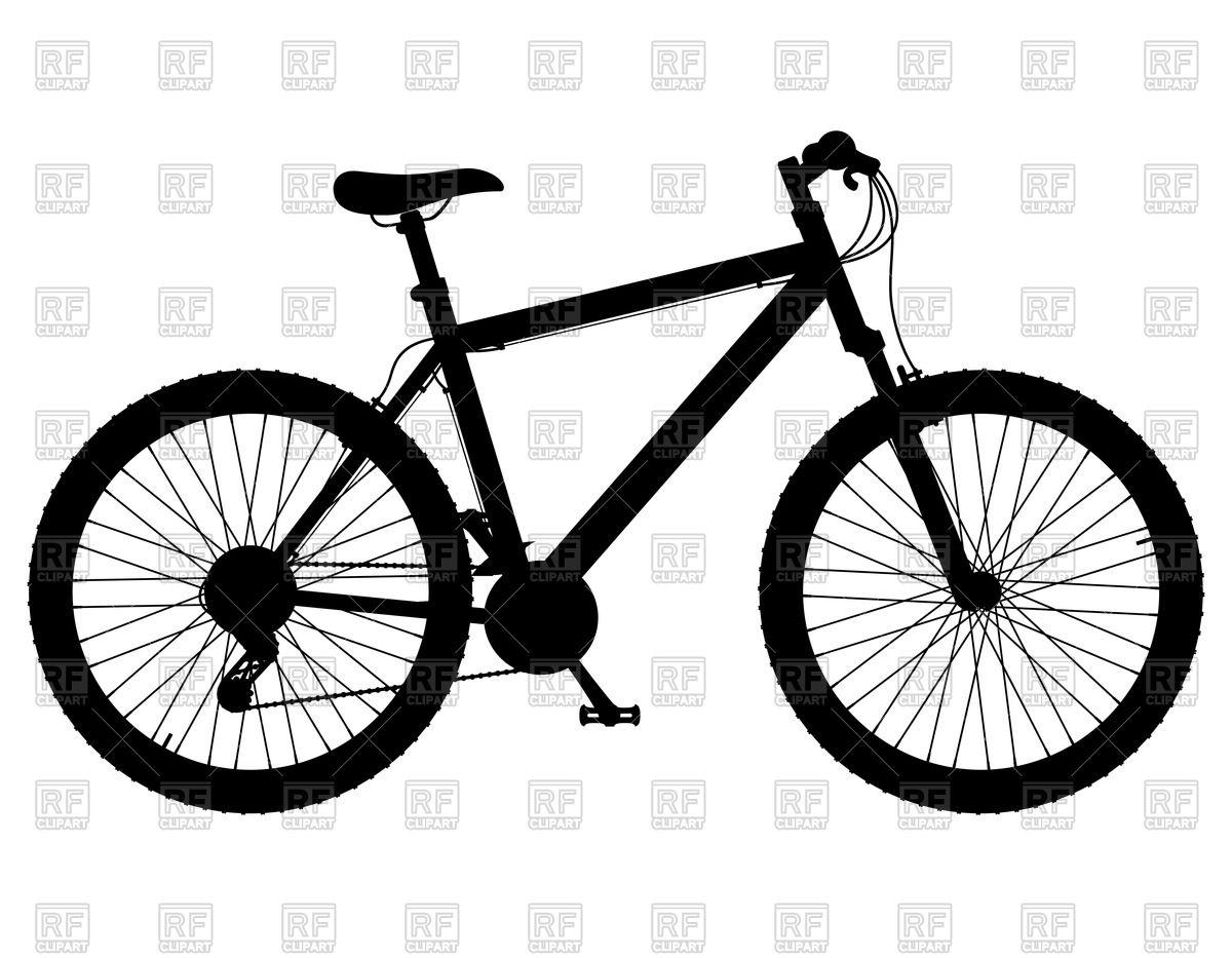 Mountain Bike Clip Art Silhouette.