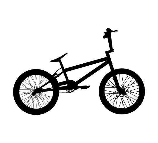 BMX bicycle silhouette.