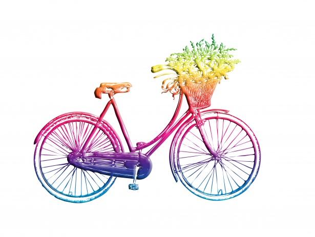 Bicicleta vintage Clipart colorido Foto stock gratuita.