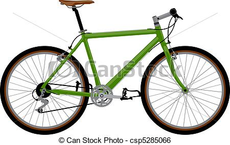 Clip Art Vector of Bicycle.