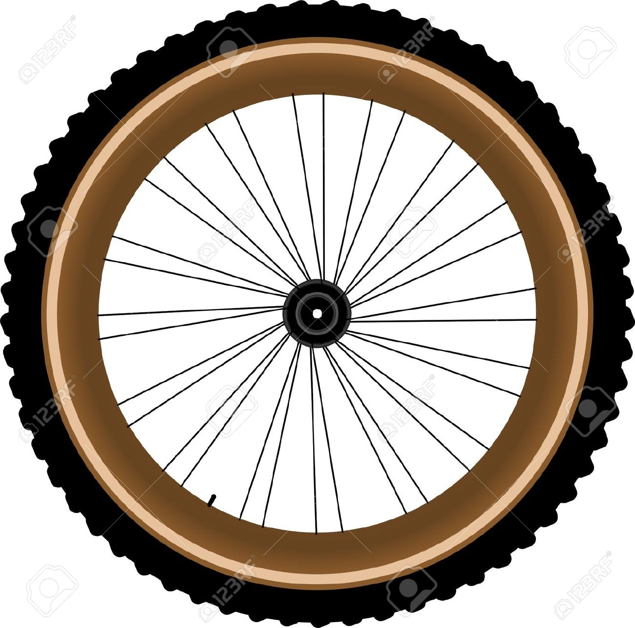 Mountain bike tyres clipart - Clipground