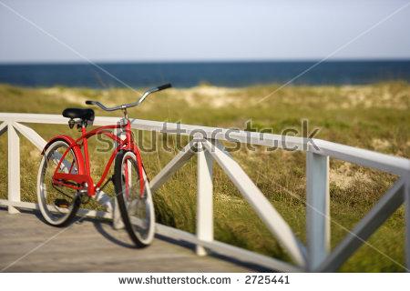 Beach Cruiser Bike Stock Images, Royalty.
