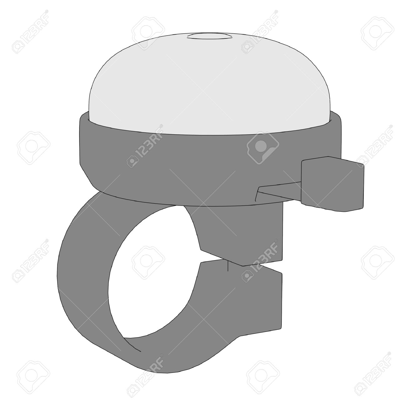 Cartoon Image Of Bicycle Bell Stock Photo, Picture And Royalty.