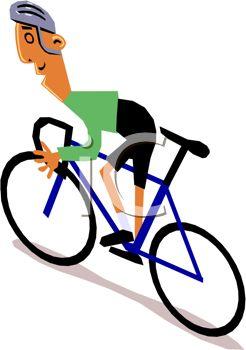 Cyclist Clipart.