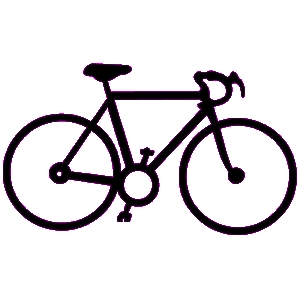 Bicycle cyclist on bike clip art at vector clip art.