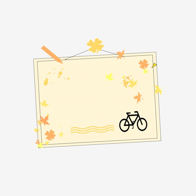 Small Flower Bicycle Border, Small Flowers, Bike, Border PNG.