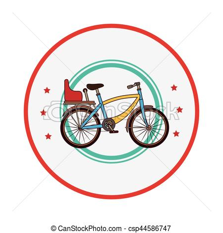 colorful border with bicycle and chair.