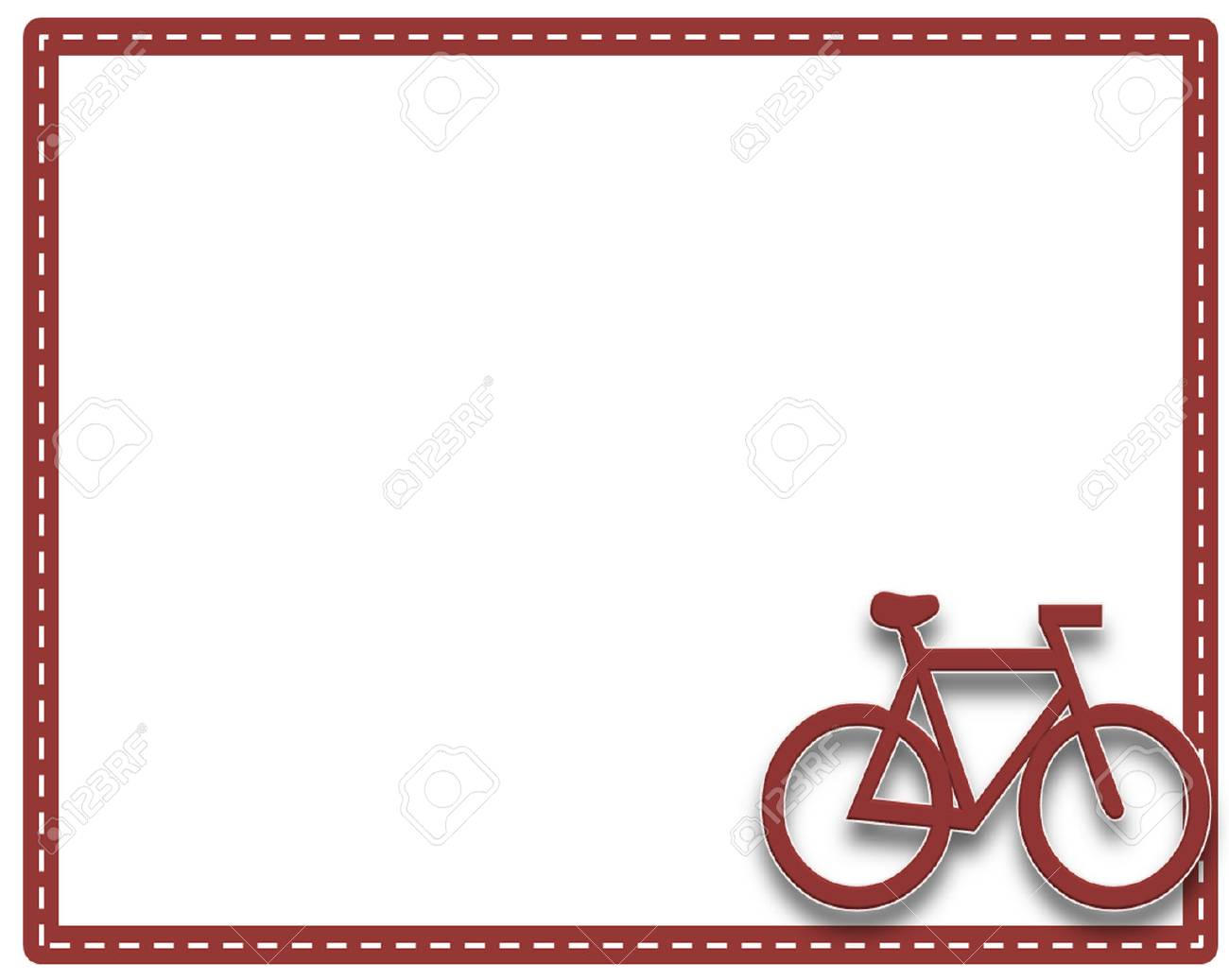 Picture frame bike or cycling with a white background and border...