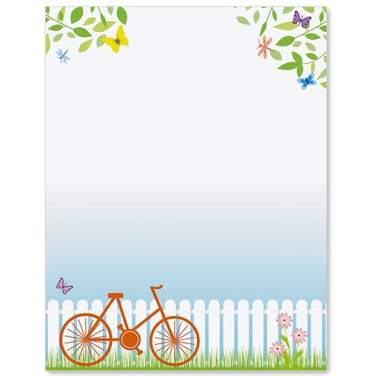 Spring Bike Ride Border Papers.