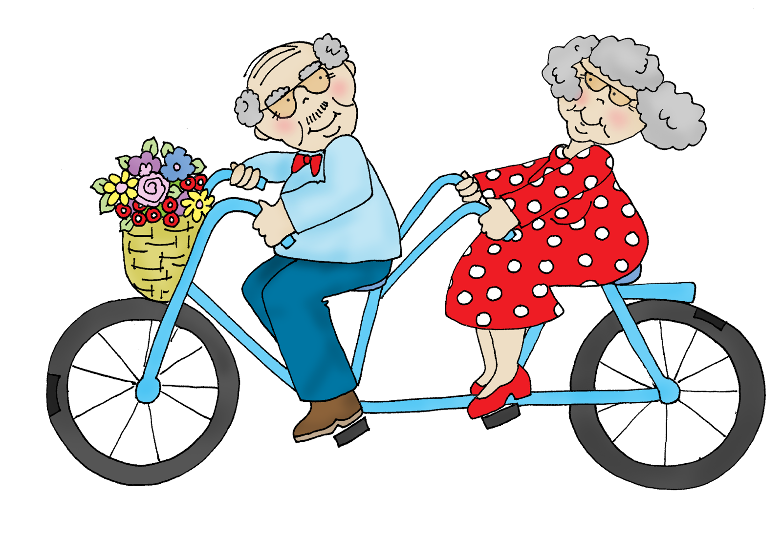 Bicycle Built For Two Clipart.